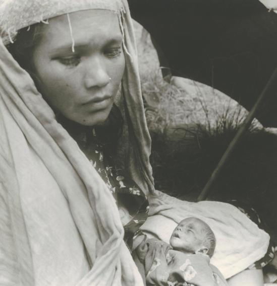 Josef Breitenbach-Mother with Sick Child, Patan, Nepal,Nepal, Patan, 1968, Gelatin silver print © The Josef Breitenbach Trust.