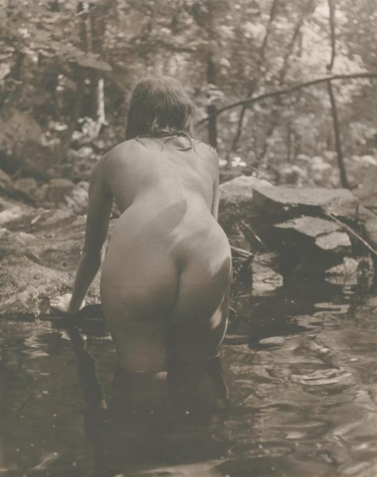 Josef Breitenbach- Nude woman in the river,New York, 1953, , Gelatin silver print © The Josef Breitenbach Trust.