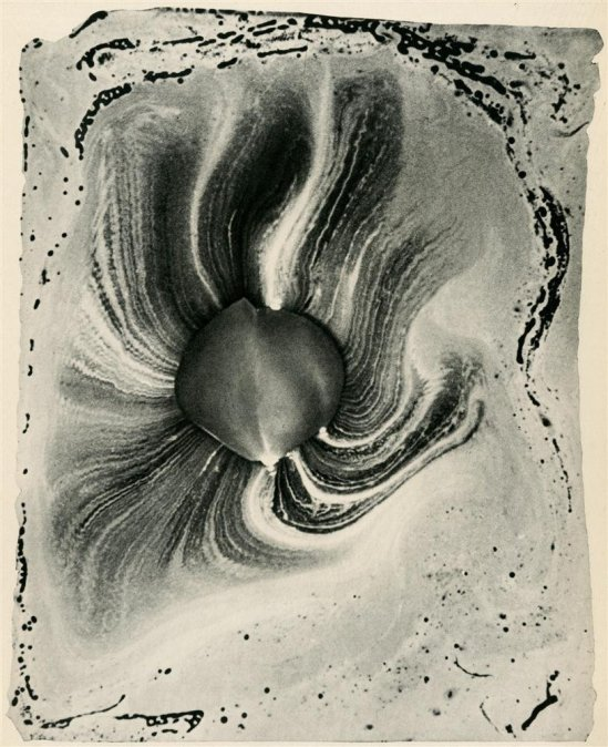 Josef Breitenbach-Photograph of the Scent Given Off by a Rose Petal photogravure. 1939  © The Josef Breitenbach Trust.