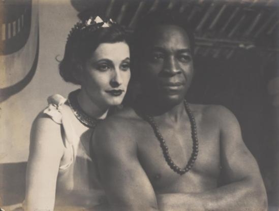 Josef Breitenbach- Portrait of the  actress Sybille Binder and Paul Robeson, in Othello, Munich,  1932, Gelatin silver print© The Josef Breitenbach Trust