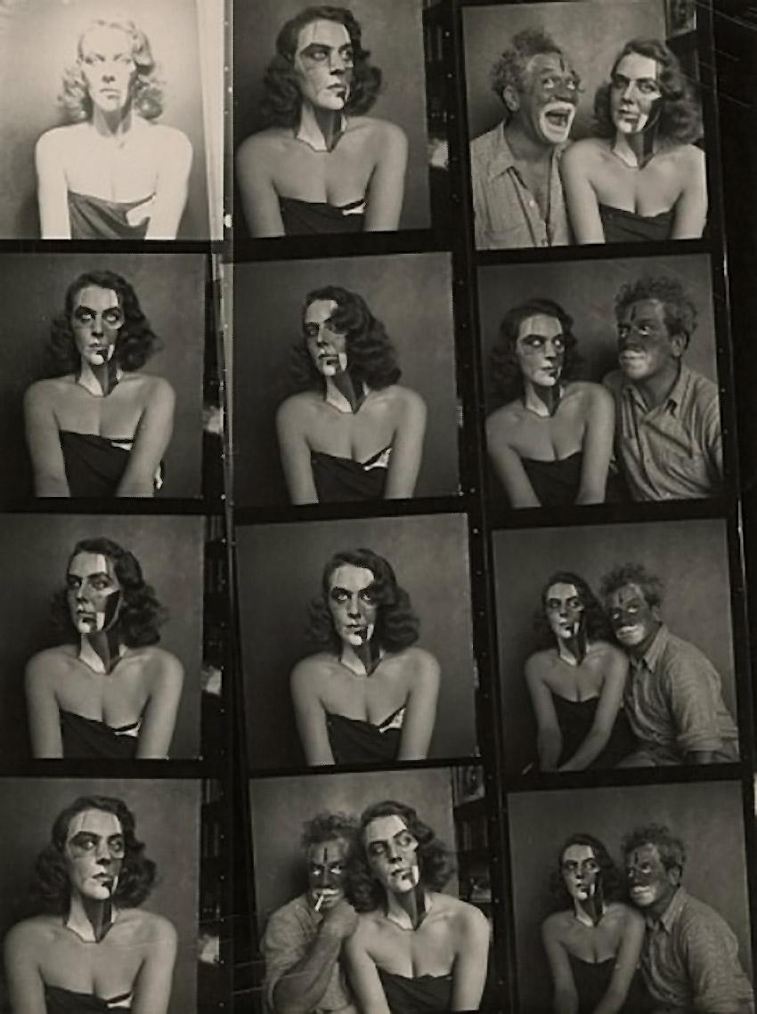 Josef Breitenbach-  Portraits with Make Up,model Patricia & Josef Breitenbach,  New York, 1945, Vintage gelatin silver print© The Josef Breitenbach Trust