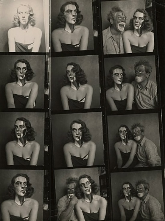 Josef Breitenbach-  Portraits with Make Up,model Patricia & Josef Breitenbach,  New York, 1945, Vintage gelatin silver print© The Josef Breitenbach Trust