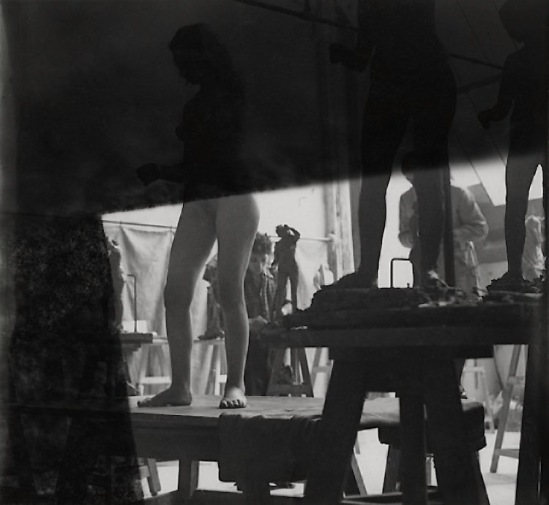 Josef Breitenbach-Sculpture Academy, Paris,  1935, gelatin silver print © The Josef Breitenbach Trust