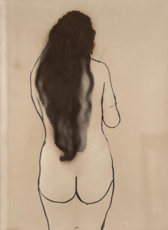 Josef Breitenbach-Standing Nude (Back), 1930-39, Gelatin silver print© The Josef Breitenbach Trust.