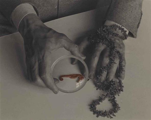 Josef Breitenbach-The Hands of Max Ernst, 1942,     Silver print. Courtesy of mfa © The Josef Breitenbach Trust