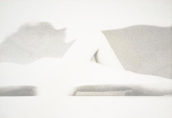 Robert Heinecken - Blanc Figure, 1964, Tirage argentique © Robert Heinecken Archives