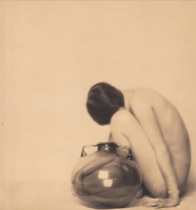 Mario Buchovich- Nude with Murano Vase ,1935