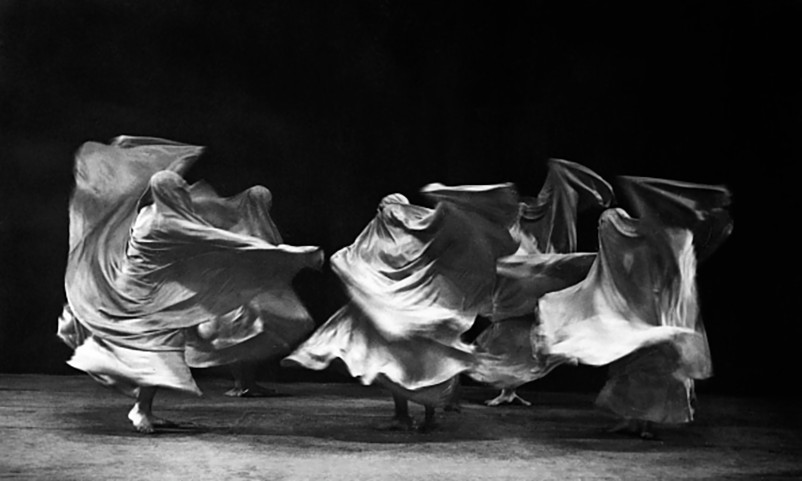 Mary Wigman and her dancers in a scene from the pantomime dance  'The Weg', choreoragraphy by  Mary Wigman, 1932 by Charlotte Rudolph