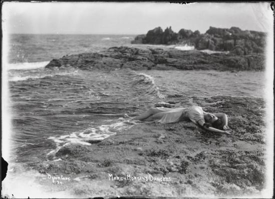 Athur Vitols for Byron Company -Marion Morgan's Dancers, Girl Washed Up on the Beach, August, 1917