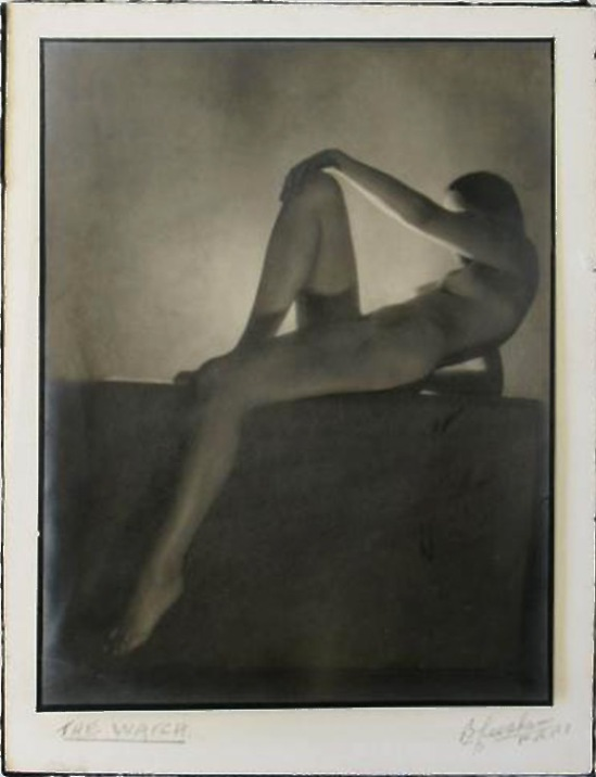 Bernard Leedham nude study 'The Watch, 1930