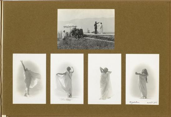 François Frédéric dit Fred Boissonnas -Photographies de l'album Boissonnas 1903-1904 Magdeleine G. hypnotisée par Emile Magnin, 1902-1904 Négatif au gelatino-bromure d'argent sur verre