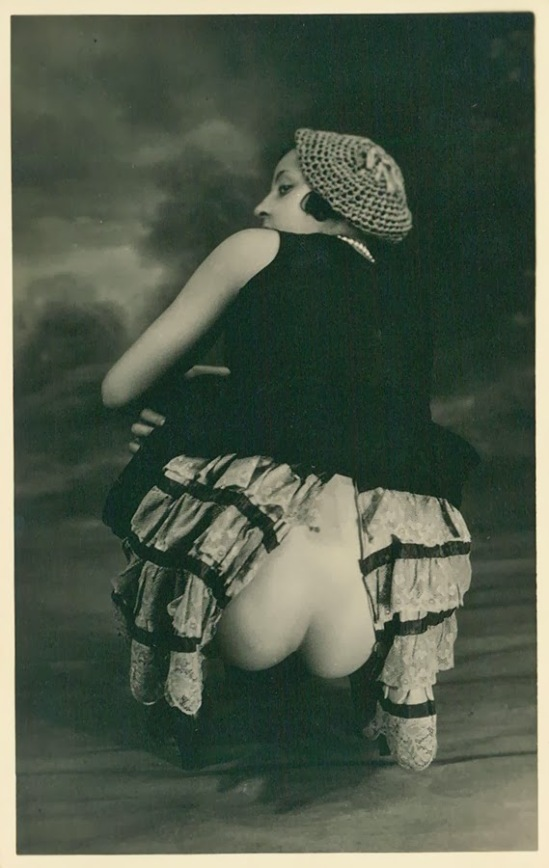 Grundworth - Nude pose lingerie , 1920s Gelatin silver medium postcard