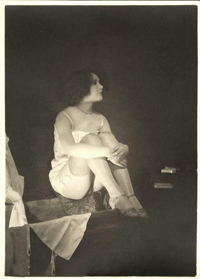 Grundworth - Nude pose lingerie , 1920s Gelatin silver medium postcard