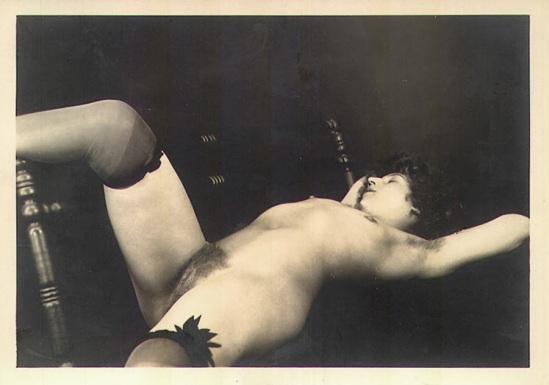 Grundworth - Nude pose lingerie , 1920s Gelatin silver medium postcard 23