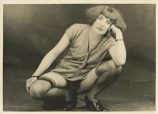 Grundworth - Nude pose lingerie , 1925 Gelatin silver medium postcard