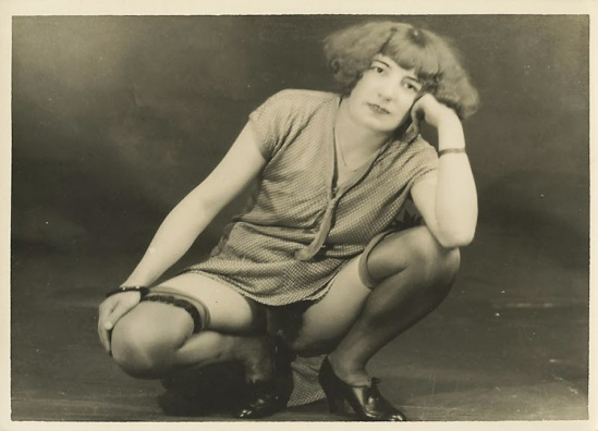 Grundworth - Nude pose lingerie , 1925 Gelatin silver medium postcard