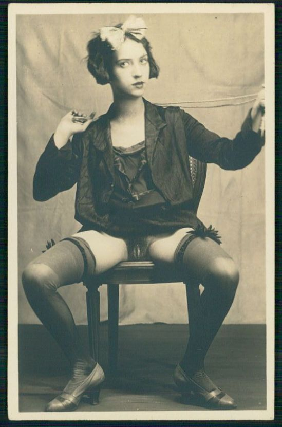 Grundworth - Nude pose Tie Me Up , 1920s Gelatin silver medium postcard