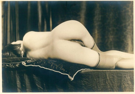 Grundworth - Reclining Nude, 1920s Gelatin silver medium postcard