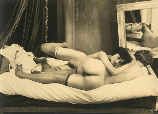 Grundworth - Two Nudes c1920s Gelatin silver medium postcard.
