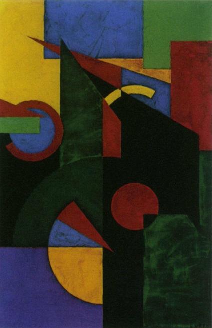 Marcel louis baugnier- background for Akova' s dance, 1923