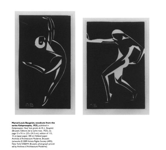 marcel Louis baugniet,- Woodcuts from the serie Kaloprosopies, 1925