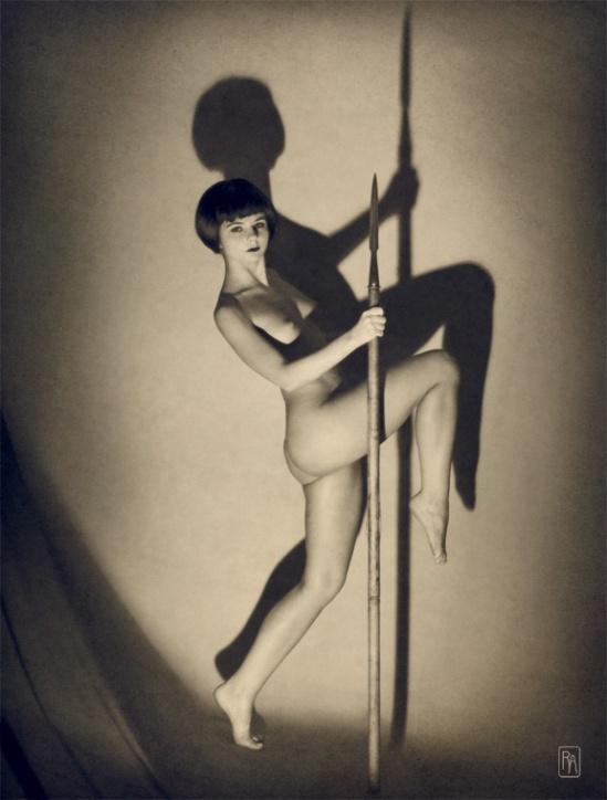 Retroatelier Aleksey Galushkov-Amazon. Art Deco Girl with Spear, model Irenka, 2008 2