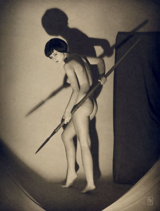 Retroatelier Aleksey Galushkov-Girl with Spear, Amazon. Art Deco, model Irenka, 2008