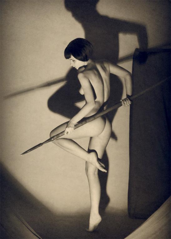 Aleksey Galushkov-Girl with Spear,Amazon. Art Deco, model Irenka, 2008