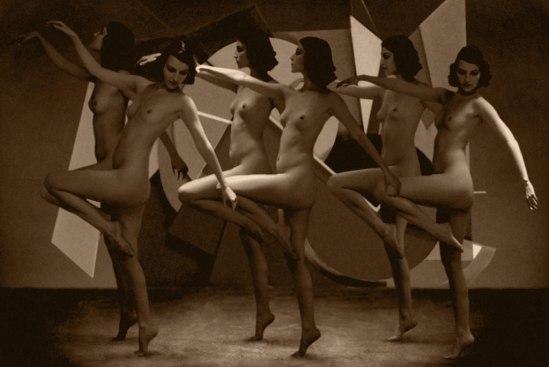 Retroatelier- From serie Art Deco, Procession 2 .1920 , Model Julia, Photoshop., 2005