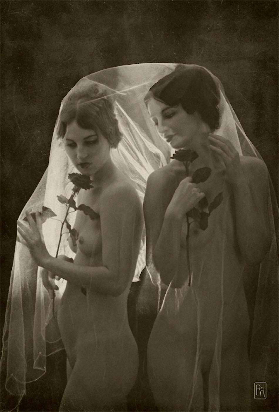 Retroatelier - Model Dixie and Rada Black Roses, 2009