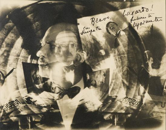 Elio Luxardo  - Marinetti futurista, ca. 1930 Vintage gelatin silver print