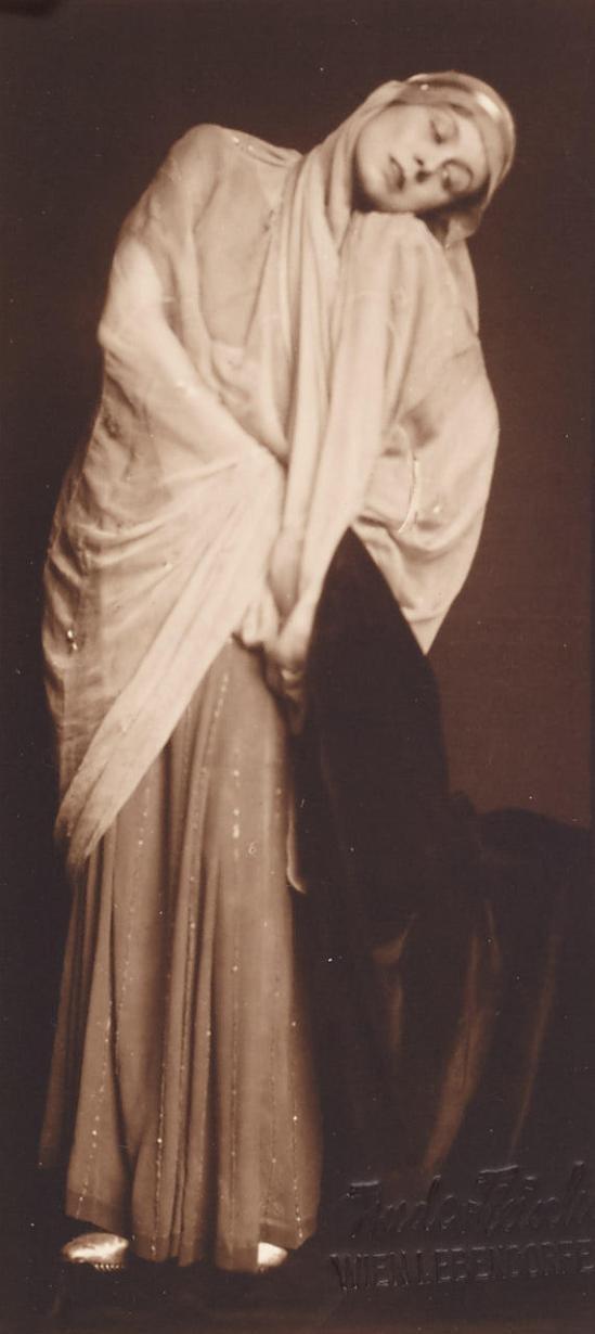 Trude  Fleischmann - Austrian stage and film actress Helene Ottilie Thimig  , Vienna c. 1930 Vintage silver print, postcard