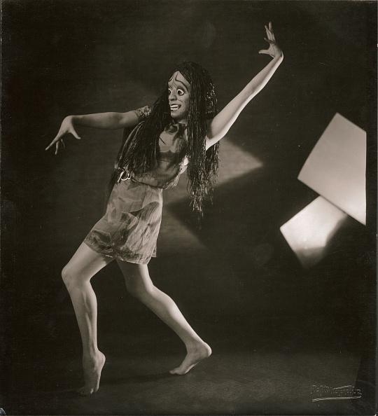 Rudolf Koppitz- Hedy Pfundmayr with Elektra-mask. About 1928. Silver gelatin print