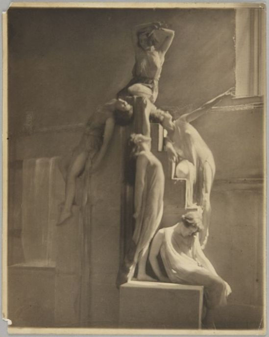 Clarence H. White- Dancers from Barnard College Greek Games ,1911 Platinum print