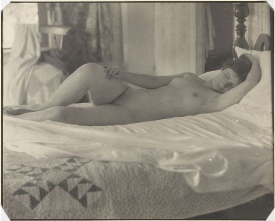 Clarence H. White- Nude posed indoors,1910