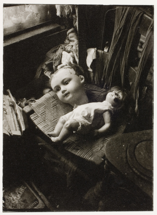 Fred Stein-Doll and doll head on chair, 1935