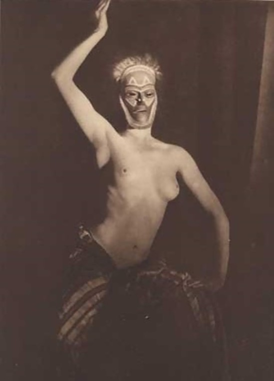 YVA  Else Neuländer Simon Nude with mask, before 1938
